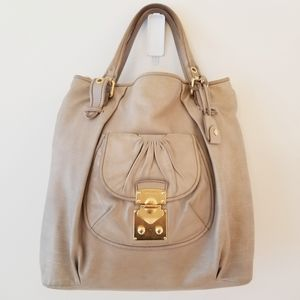 MIU MIU soft leather large bag with strap & key